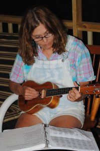 me playing uke
