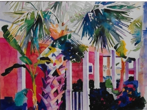 scanned art tropical